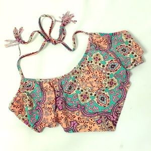 OP Bandana Style Tasseled Bikini Top LG